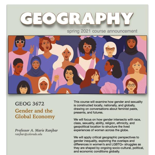 GEOG 3672 Course Flyer for Spring 2021