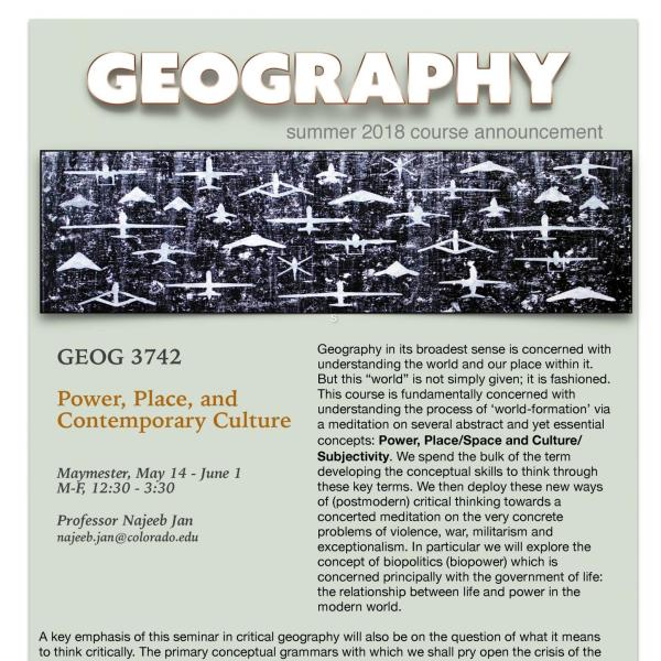 GEOG 3742 Course Flyer - Summer 2018