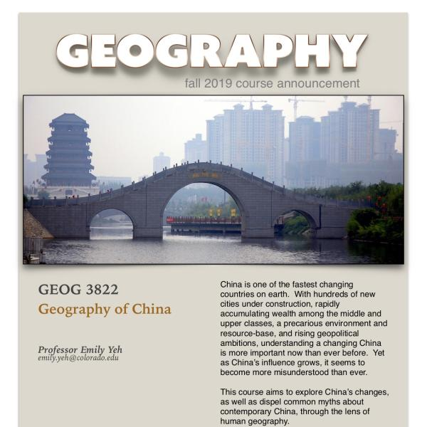 GEOG 3822 Course Announcement for Fall 2019