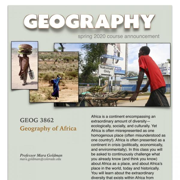 GEOG 3862 Course Announcement for Spring 2020