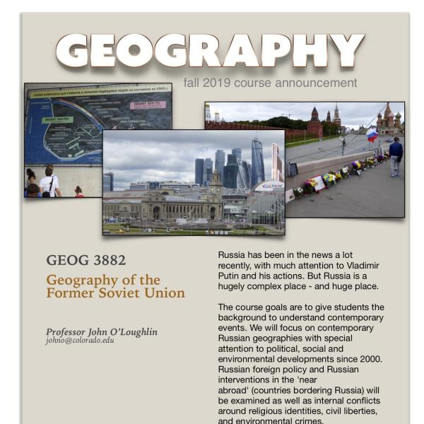 GEOG 3882 Course Announcement for Fall 2019