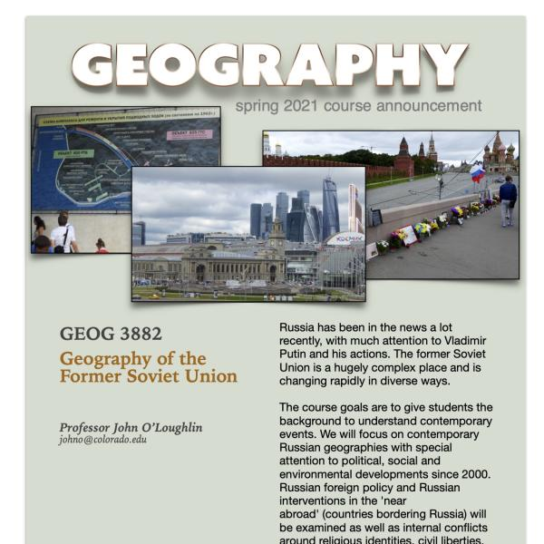 GEOG 3882 Course Flyer for Spring 2021