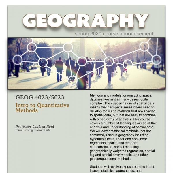GEOG 4023/5023 Course Announcement for Spring 2020