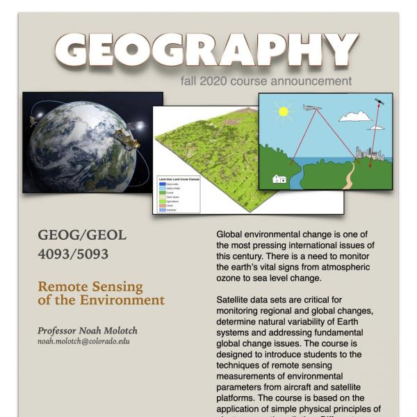 GEOG 4093/5093 Course Flyer for Fall 2020