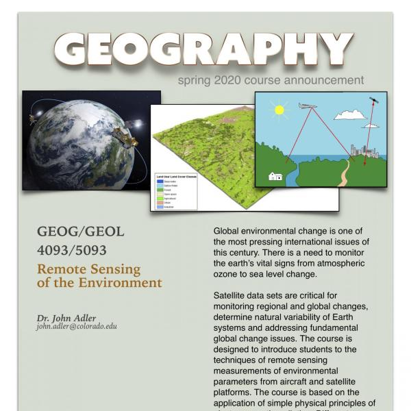 GEOG 4093 Course Announcement for Spring 2020