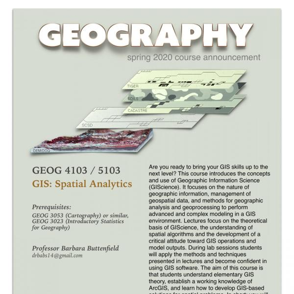 GEOG 4103 Course Announcement for Spring 2020