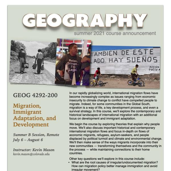 GEOG 4292 Course Flyer for Summer 2021