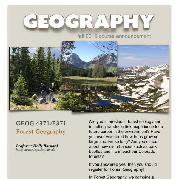GEOG 4371-5371 Course Announcement for Fall 2019