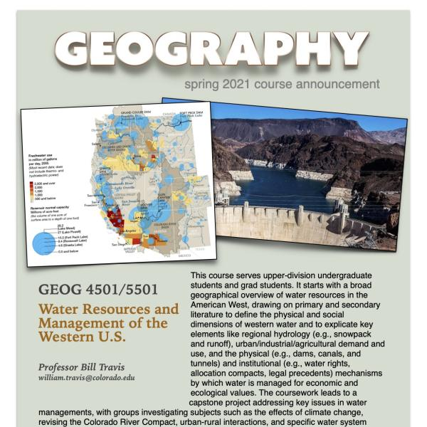 GEOG 4501/5501 Course Flyer for Spring 2021
