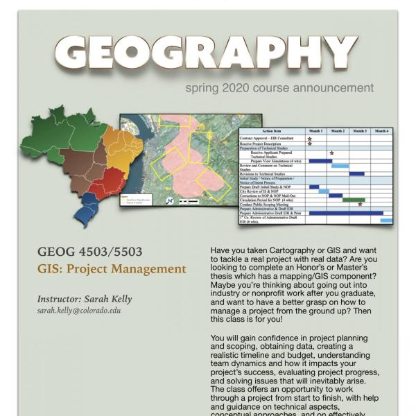 GEOG 4503/5503 Course Announcement for Spring 2020
