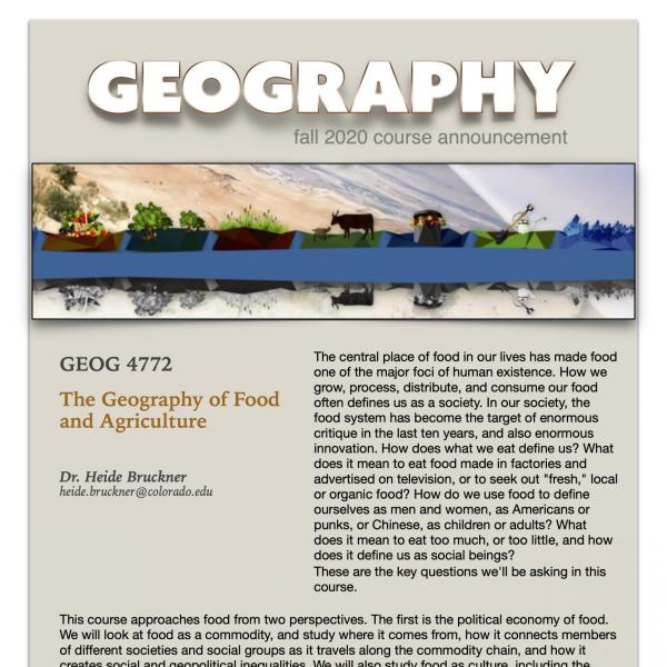 GEOG 4772 Course Flyer for Fall 2020