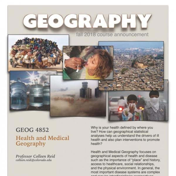 GEOG 4852 Course Flyer for Fall 2018