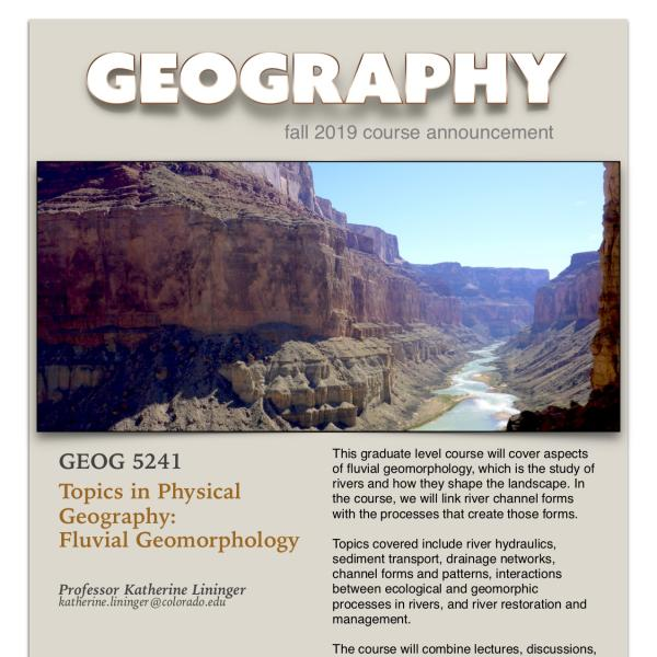 GEOG 5241 Course Announcement for Fall 2019