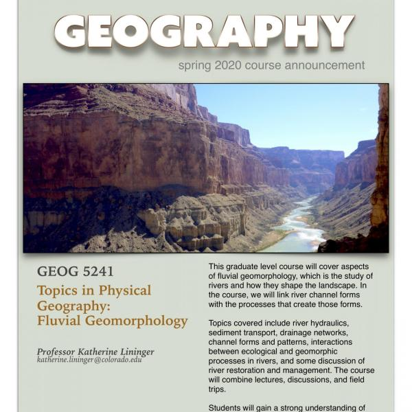 GEOG 4742 Course Announcement for Spring 2020