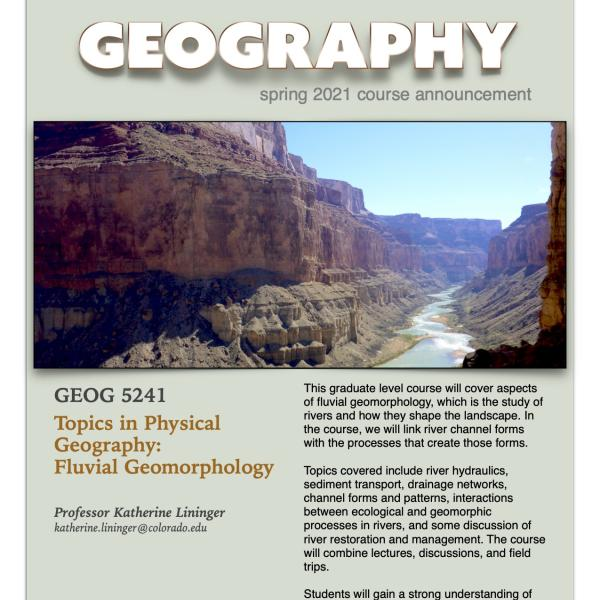 GEOG 5241 Course Flyer for Spring 2021