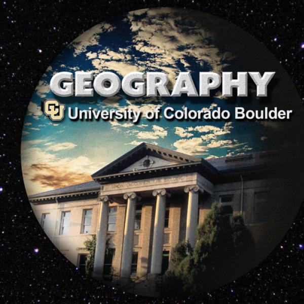 Geography logo circular spherical on rectangle for article thumbnail with stars background