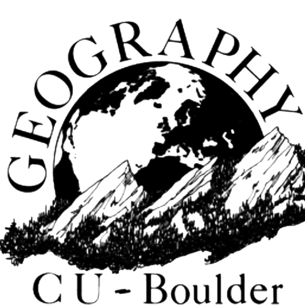 Old school Geography logo - B&W