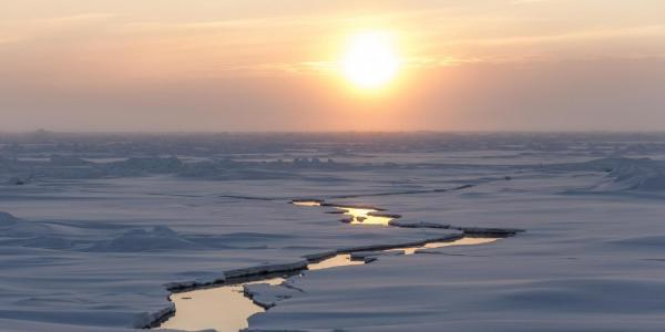 Arctic ice with canal