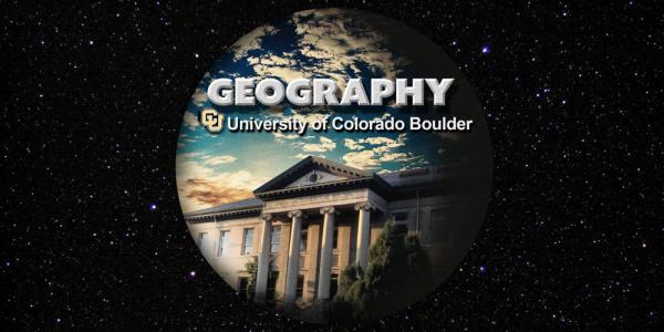 """Guggenheim building with the words """"Geography, university of colorado boulder"""""""