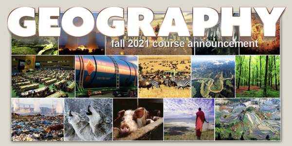 GEOG 1972-581 Course Flyer for Fall 2021