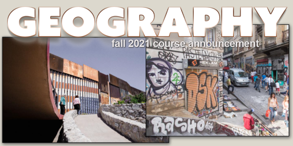 GEOG 1992 Course Announcement for Fall 2021