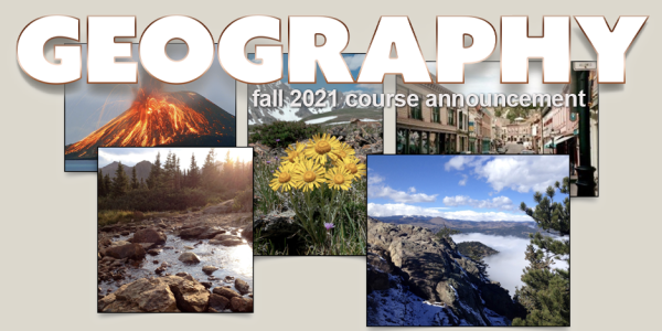 GEOG 3251 Course Announcement for Fall 2021