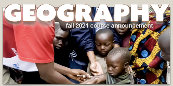 GEOG 3692 Course Announcement for Fall 2021