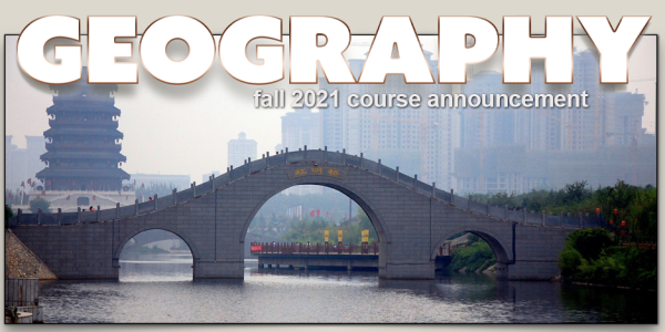 GEOG 3822 Course Announcement for Fall 2021