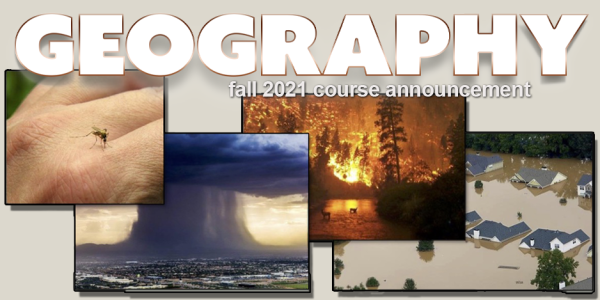 GEOG 4002/5100 Course Announcement for Fall 2021