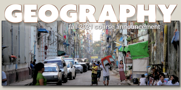 GEOG 4173 Course Announcement for Fall 2021