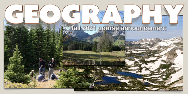 GEOG 4371/5371 Course Announcement for Fall 2021