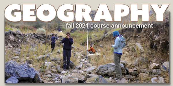 GEOG 4241 Course Announcement for Fall 2021
