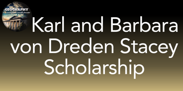 Karl and Barbara von Dreden S tacey Scholarship