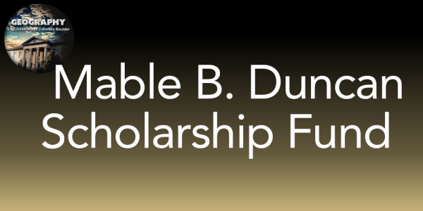 Mable B. Duncan Scholarship Fund