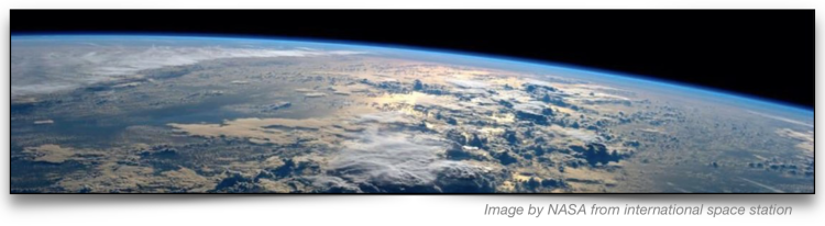 View of Earth from international space station. Photo by NASA.