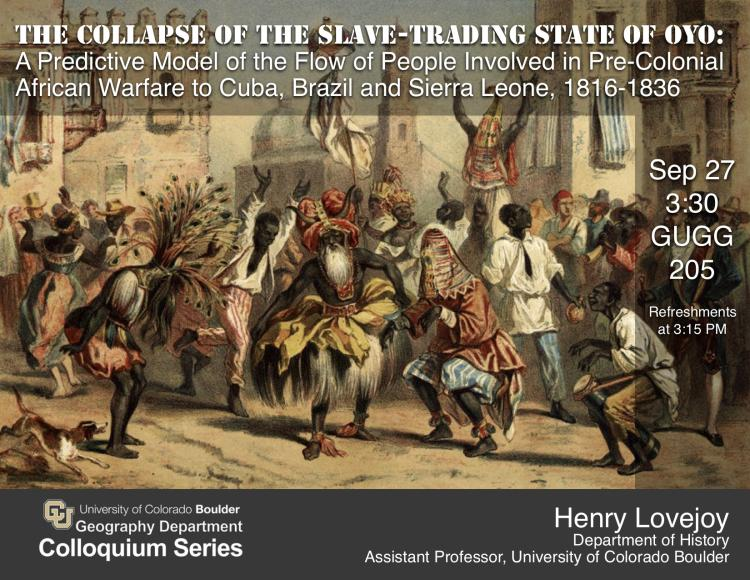 Henry Lovejoy colloquium poster with date, time, location