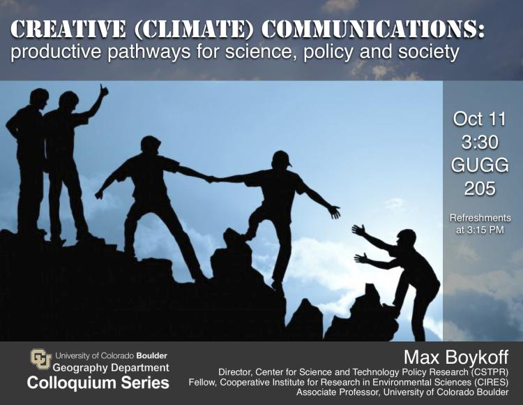 Max Boykoff colloquium poster