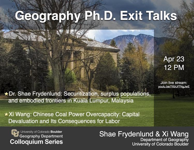 Guggenheim building with colloquium info overlaid