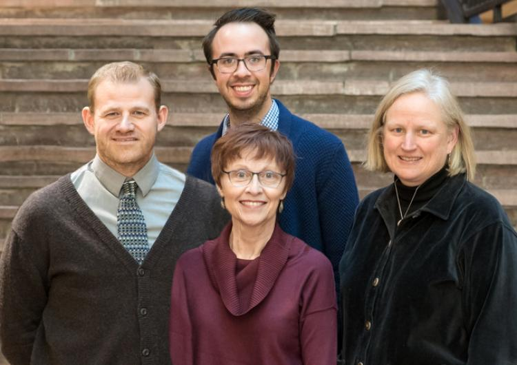 Group photo of Dylan West, Shawn Arnold, Nathan Jones, Elizabeth Pike