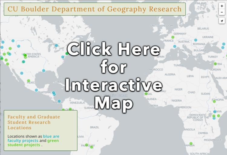 world map with dots at various locations depicting research locations