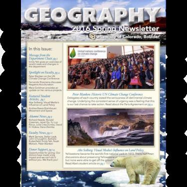 Spring 2016 Newsletter Cover