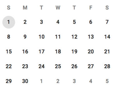 Calendar rows