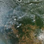 satellite photo of Brazilian fires