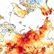 arctic heat map