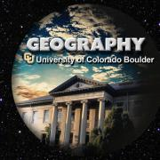 "Guggenheim building with the words ""Geography, university of colorado boulder"""