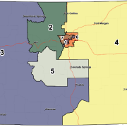Colorado map showing redistricting