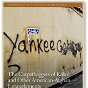 "Book cover with graffiti that says ""Yankee Go Home"""