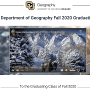Web page screenshot of commencement video for grads