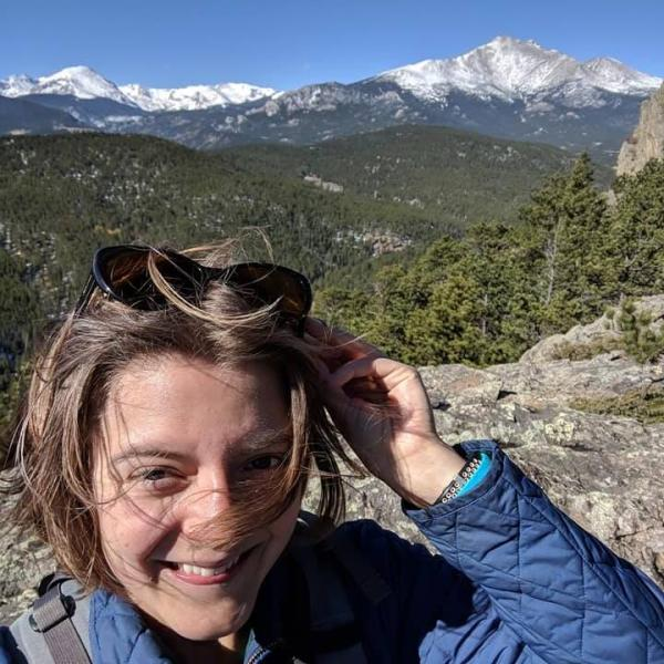 Windy hike in Roosevelt National Forest