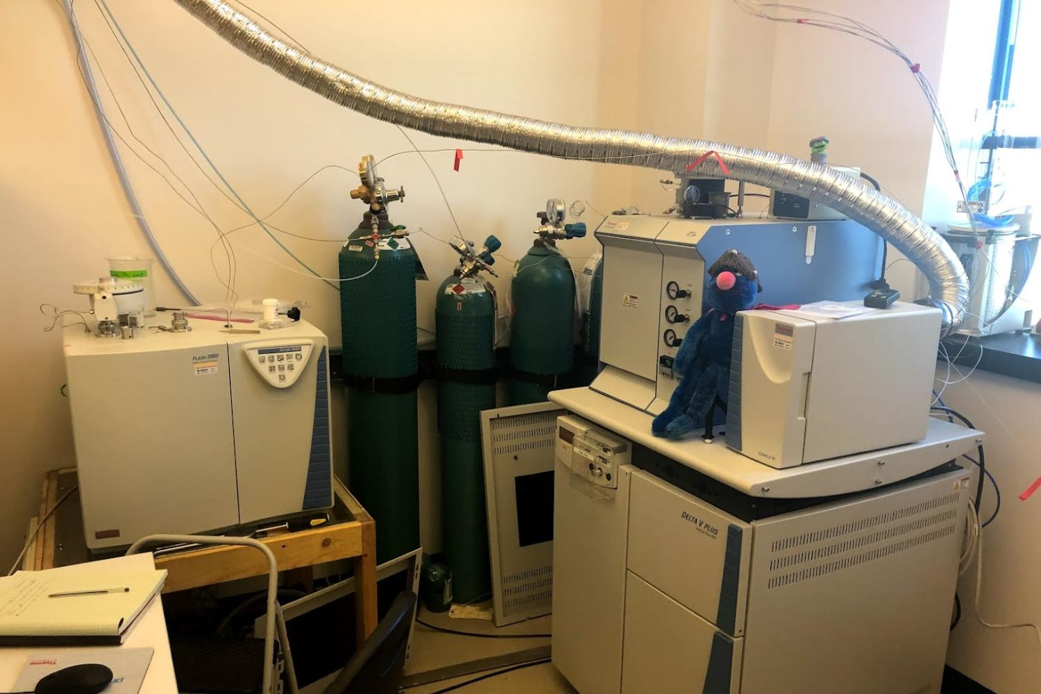 The general purpose Delta V Plus isotope ratio mass spectrometer.